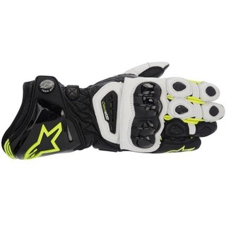 GP PRO Racing Glove black / white / yellow 3XL