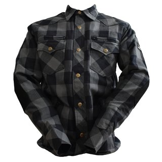 Bores Lumberjack Jacket-Shirt black / grey men