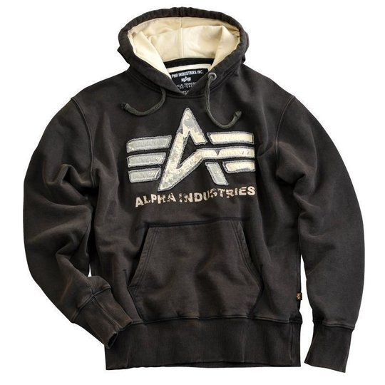 Alpha Industries Big A Vintage Hoody schwarz