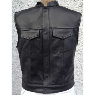 Cha Cha Kutte BILLY Leather vest smooth leather 54