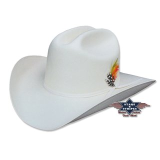Cowboy Hat Arizona white 56 cm