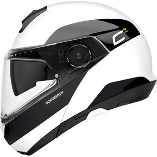 Schuberth C4 Pro flip-up helmet fragment white M