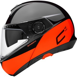 Schuberth C4 Pro flip-up helmet Swipe orange