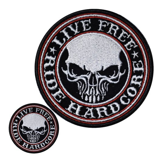 Patch Live Free - Ride Hardcore Big