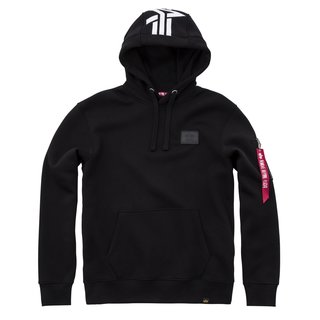 Alpha Industries Back Print Hoody schwarz
