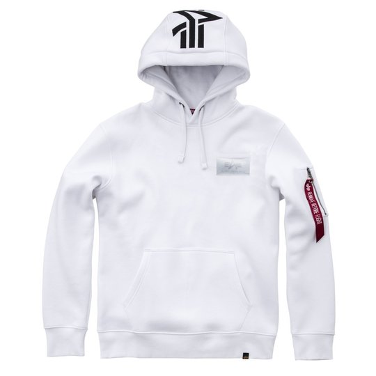 Alpha Industries Back Print Hoody weiss S