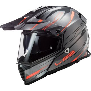 LS2 MX436 Pioneer  EVO Knight titanium / fluo-orange