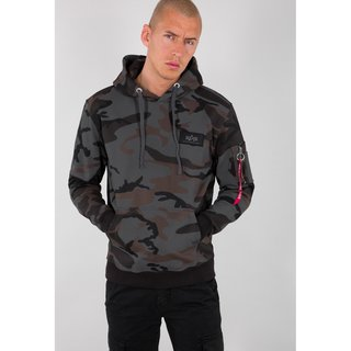 Alpha Industries Back Print Hoody black camo