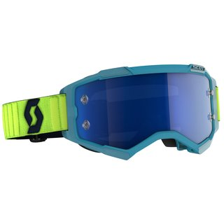 Scott Goggle Fury türkis / neon-gelb / electric blue...