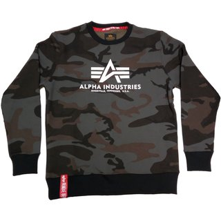 Alpha Industries Basic Sweater black camo