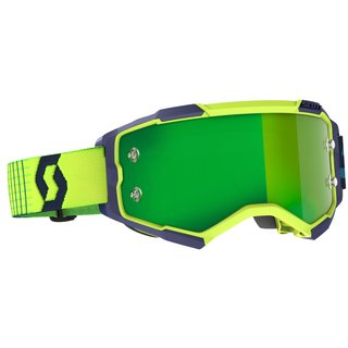 Scott Goggle Fury blau / gelb / green chrome works