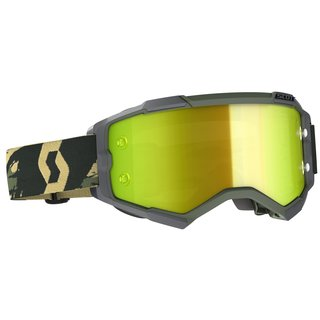 Scott Goggle Fury camo kaki / yellow chrome works