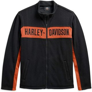 HD Jacke Chest Stripe schwarz / orange