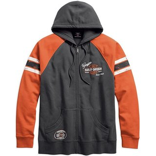 HD Sweatshirt Genuine Oil Can grau / orange
