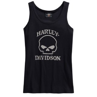 HD Tank-Top Skull schwarz Damen
