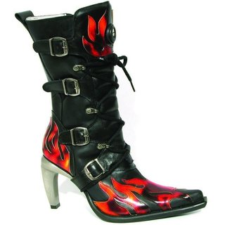 New Rock Ladies Boots Model 9791 Malicia red