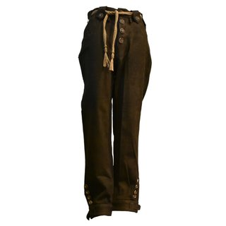 Traditional leather trousers, dark brown
