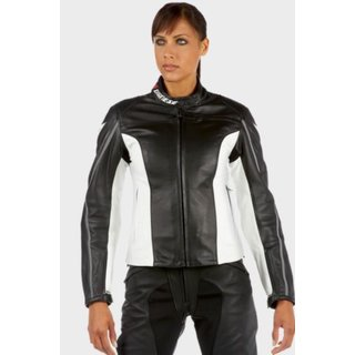 Dainese SF Pelle Lady Leather Jacket black / black / white