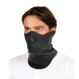 Held neck and face protection neoprene black