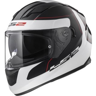 LS2 FF320 Stream Lunar full-face helmet black / white