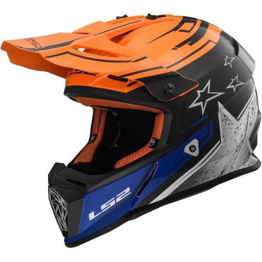 LS 2 Fast MX437 Core Matt-Schwarz / Orange