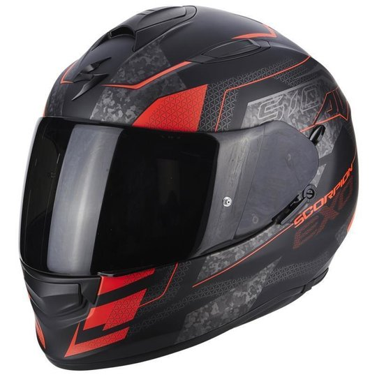 Scorpion Exo-510 Air Galva matt-black / neon red