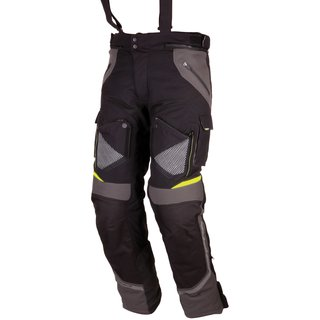 Modeka motorcycle trousers Panamericana black/yellow