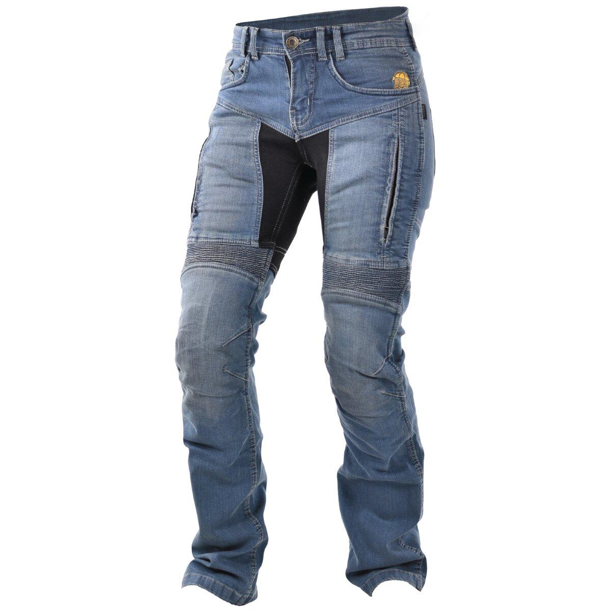 germot motorrad jeans parado blau damen langgr en wild. Black Bedroom Furniture Sets. Home Design Ideas