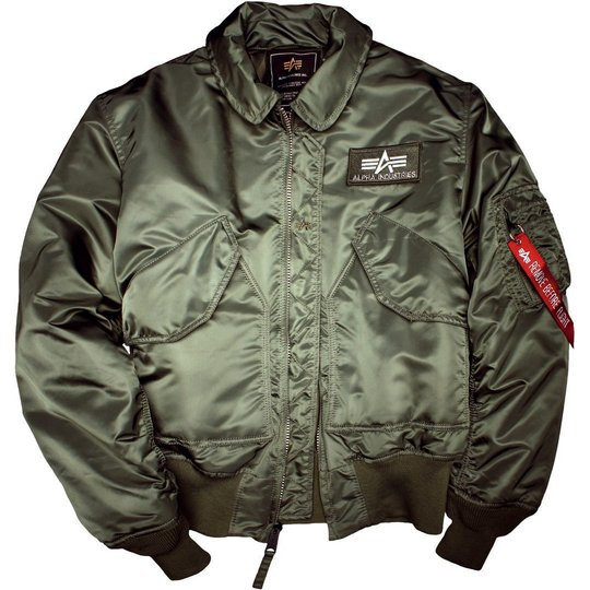 Alpha Industries Bomber Jacke CWU 45 sage green M